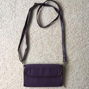 Thirty-One Purple w/White Polka Dot Wallet